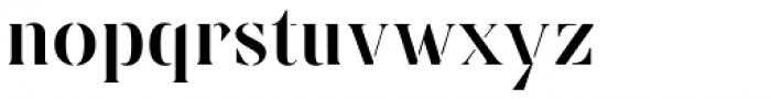 Linsingen Stencil Font LOWERCASE