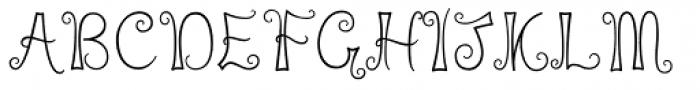 Liquorice Twist Font UPPERCASE