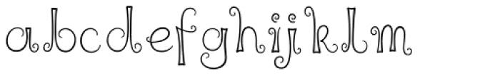 Liquorice Twist Font LOWERCASE