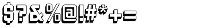 Liquorstore 3D Font OTHER CHARS