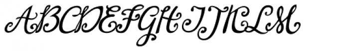 Lirio Slanted Font UPPERCASE