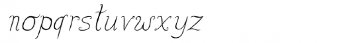 Lisa Condensed Italic Font LOWERCASE