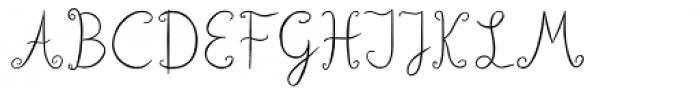 Lisa Condensed Font UPPERCASE