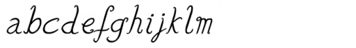 Lisa Italic Font LOWERCASE