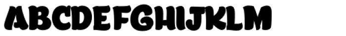 Lita Caps Fat Font LOWERCASE
