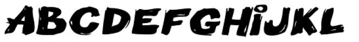 Little Piggy BTN Wide Oblique Font UPPERCASE