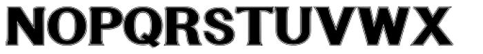 Littler Serifada Lined Font UPPERCASE