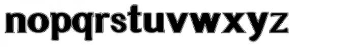 Littler Serifada Lined Font LOWERCASE