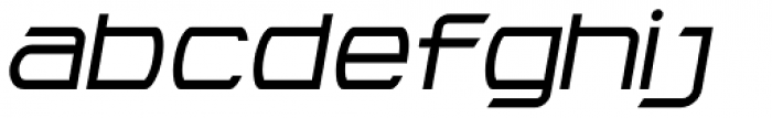Litto Expanded Italic Font LOWERCASE
