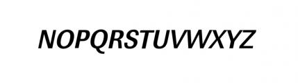 Linear Extra Narrow Bold Oblique Font UPPERCASE