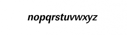 Linear Extra Narrow Bold Oblique Font LOWERCASE