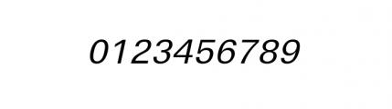Linear Wide Regular Oblique Font OTHER CHARS