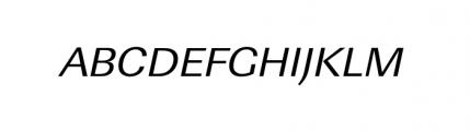 Linear Wide Regular Oblique Font UPPERCASE