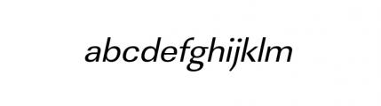 Linear Wide Regular Oblique Font LOWERCASE