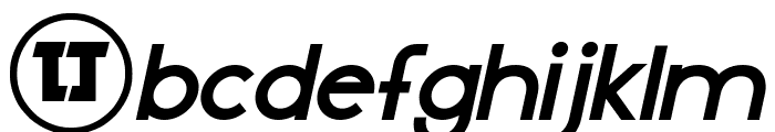 LJ Design Studios IS Bold Italic Font LOWERCASE