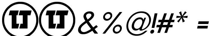 LJ Design Studios IS Italic Font OTHER CHARS