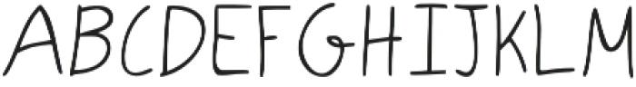 LK-Andromeda-light otf (300) Font UPPERCASE