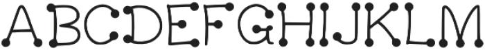 LK-Delos-regular-dots otf (400) Font UPPERCASE