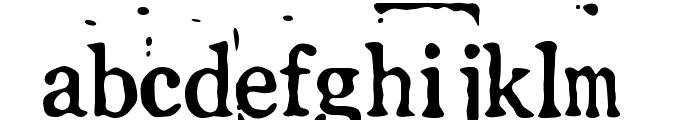 LLPearlBlack Font LOWERCASE