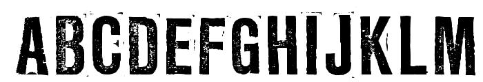 LLRubberGrotesqueOTF Font UPPERCASE