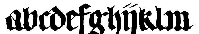 LLTextur  Regular Font LOWERCASE