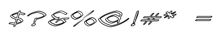 Llynfyrch Fwyrrdynn Ouline Font OTHER CHARS