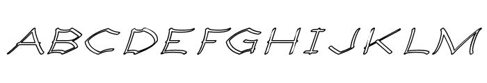 Llynfyrch Fwyrrdynn Ouline Font UPPERCASE