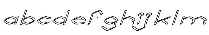 Llynfyrch Fwyrrdynn Ouline Font LOWERCASE