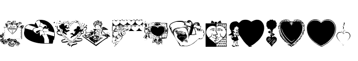 LM Valentines  1 Font UPPERCASE