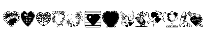 LM Valentines  1 Font LOWERCASE
