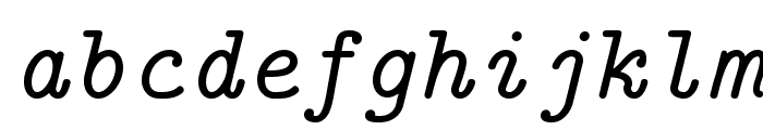 LMMono10-Italic Font LOWERCASE