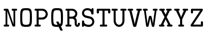 LMMono8-Regular Font UPPERCASE