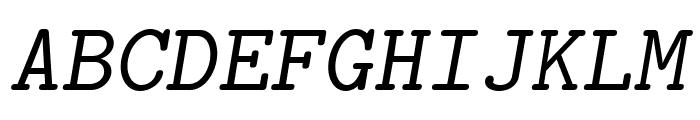 LMMonoCaps10-Oblique Font UPPERCASE