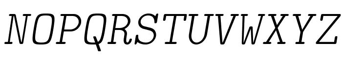 LMMonoLt10-Oblique Font UPPERCASE