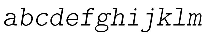 LMMonoLt10-Oblique Font LOWERCASE