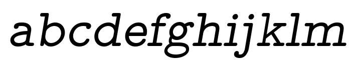 LMMonoProp10-Oblique Font LOWERCASE