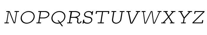 LMMonoPropLt10-Oblique Font UPPERCASE