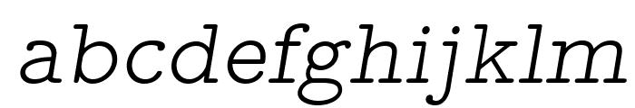 LMMonoPropLt10-Oblique Font LOWERCASE