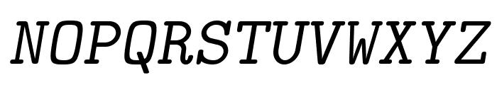 LMMonoSlant10-Regular Font UPPERCASE