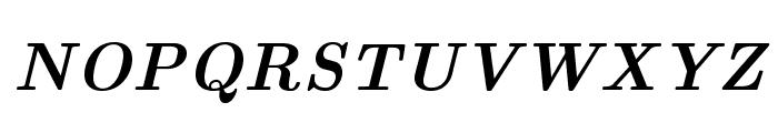 LMRoman10-BoldItalic Font UPPERCASE