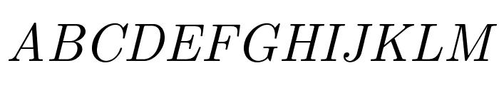 LMRoman10-Italic Font UPPERCASE