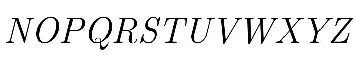 LMRoman12-Italic Font UPPERCASE