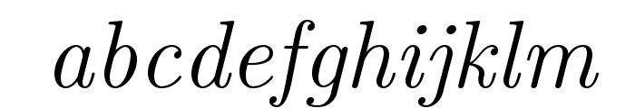 LMRoman12-Italic Font LOWERCASE