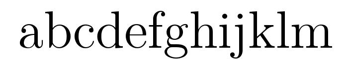 LMRoman12-Regular Font LOWERCASE