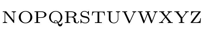 LMRoman6-Regular Font UPPERCASE