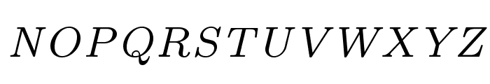 LMRoman7-Italic Font UPPERCASE
