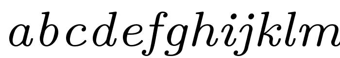 LMRoman7-Italic Font LOWERCASE