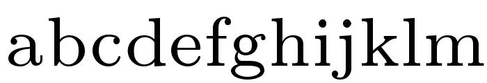 LMRoman7-Regular Font LOWERCASE