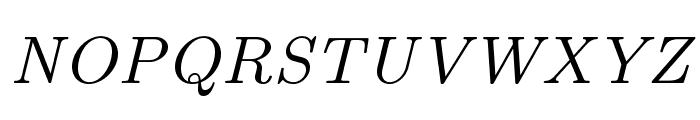 LMRoman8-Italic Font UPPERCASE