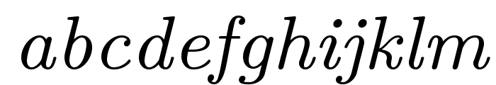 LMRoman8-Italic Font LOWERCASE
